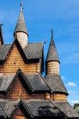 Çıta kilise heddal, Norveç — Stok fotoğraf