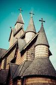 Kościół heddal stavkirke, Norwegia — Zdjęcie stockowe