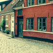 Street with old houses from royal town Ribe in Denmark — Stock Photo #46716665