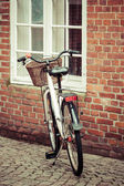 Bike in the Streets of ribe,Denmark — Stock Photo