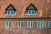 Half timbered traditional house in ribe denmark — Stock Photo