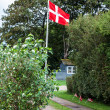 Danish flags are visible on the picture — Stock Photo