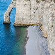 The famous cliffs at Etretat in Normandy, France — Stock Photo