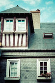 Stylized half-timbered house. Etretat is a commune in the Seine — Stock Photo
