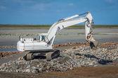 Excavadora en construcción nueva — Foto de Stock