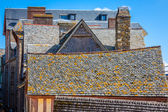 Roofs and houses from the village under the monastry on the Moun — Stock Photo