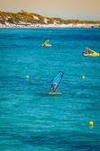 Ibiza island,beach Ses Salines  in Sant Josep at Balearic island — ストック写真