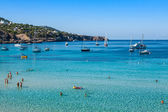 Cala Tarida in Ibiza beach San Jose at Balearic Islands — Stock Photo
