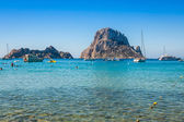 Es vedra island of Ibiza  Cala d Hort in Balearic islands — Stock Photo