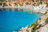 Es vedra island of Ibiza  Cala d Hort in Balearic islands — Stock Photo