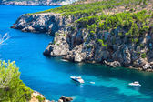 Ibiza Punta de Xarraca turquoise beach paradise in Balearic Isla — Stock Photo
