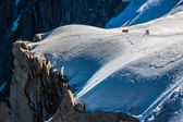 The view from Aiguille du Midi during acclimatization and climb  — Stock Photo