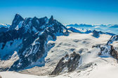 Mont Blanc mountain massif summer landscape(view from Aiguille d — Foto Stock