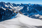 Mont Blanc mountain massif summer landscape(view from Aiguille d — Stockfoto