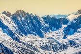 Mont Blanc mountain massif summer landscape(view from Aiguille d — Stock Photo