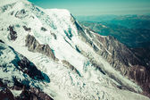 Bossons Glacier from the summit of the Aiguille du Midi in the M — Stock Photo