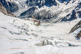 Mer de Glace (Sea of Ice) is a glacier located on the Mont Blanc — Stock Photo
