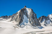Mont Blanc massif in the French Alps,Chamonix Mont Blanc — Stok fotoğraf