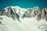 Mont Blanc massif in the French Alps,Chamonix Mont Blanc — Stock Photo