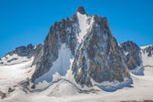 Massif de mont Blanc on the border of France and Italy. In the f — Foto Stock