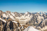 View on the Alps from the Aiguille du Midi , Chamonix. — Stock Photo