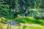Argientere,France, young people sitting on horseback — Stock Photo