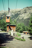 Cableway in the mountains, Argientere ,France — Stock Photo