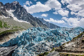 Argentiere Glacier in Chamonix Alps, Mont Blanc Massif, France. — Stock Photo