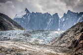 Argentiere Glacier view, Chamonix, Mont Blanc Massif, Alps, Fran — Stock Photo