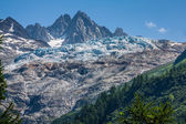 Glacier du Tour on the french swiss border of the Mont Blanc abo — Stock Photo