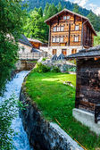Wooden houses in Fiesch - Switzerland — Foto Stock