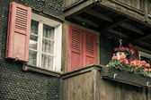 Wooden houses in Fiesch - Switzerland — Stock Photo