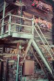 деревянные дома в fiesch - швейцария — Стоковое фото