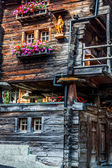 Wooden houses in Fiesch - Switzerland — Стоковое фото
