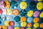 Background colorful street decoration,Madrid — Stock Photo