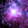 Stock Photo: Galaxy in free space