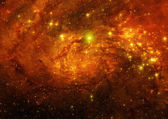 Galaxy in a free space — Stock Photo