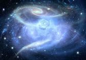 Galaxy i ett fritt utrymme — Stockfoto
