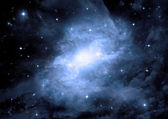 Galaxy in a free space — Stockfoto