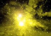 Galáxia em um espaço livre — Fotografia Stock