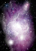 Galaxy in a free space — 图库照片