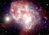 Galaxy in een vrije ruimte — Stockfoto