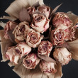 Stock Photo: Top view of bunch of dry flowers