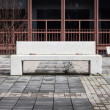 Concrete bench with nobody around — Stock Photo
