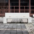 Foto de Stock  : Concrete bench with nobody around