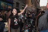 At the May Day parade 2013 in Milan — Stock Photo