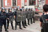 Demonstration of university students in Milan — Stock Photo