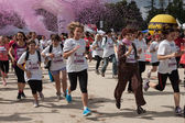 Women at the Avon running 2013 in Milan — Stock Photo