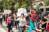 Demonstration of Turkish in Milan — Stock Photo