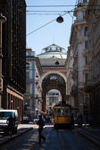 Side view of Galleria Vittorio Emanuele in Milan — Stock Photo